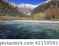 Three-stage autumn leaves of Kamikochi 42150561