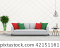 Interior with armchair,plant,sofa. 3d render 42151161