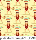 Happy laughing baby wearing cute clothing seamless pattern background preschool little kids children 42151599