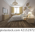 wood minimal style bedroom with view from window 42152972