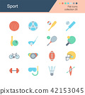 Sport icons. Flat design collection 26.  42153045