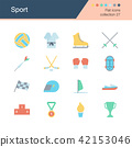Sport icons. Flat design collection 27. 42153046