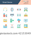 Smart Device icons. Flat design collection 30.  42153049