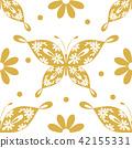 Beautiful seamless pattern with butterflies 42155331