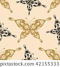 Beautiful seamless pattern with butterflies 42155333