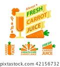 Healthy carrot juice badge emblems 42156732