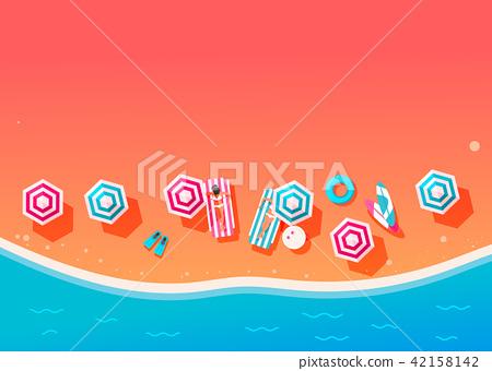 People swim and sunbathe.  42158142