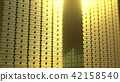 Huge stacks of shiny gold bars, 3D rendering 42158540