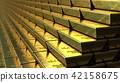 Stairs made of gold bars or bullions, 3D rendering. Success or getting rich concepts 42158675