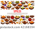 Spices and condiments cooking ingredients poster 42168394