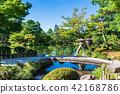 Kanazawa Kenrokuen Emperor lantern and Hongqiao bridge 42168786