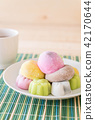 colorful dessert mochi 42170644