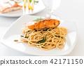 stir-fried spicy spaghetti with salmon 42171150