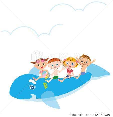 孩子們騎著海豚 42171389