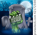 Horror Movie Film Zombie or Monster Sign 42172500
