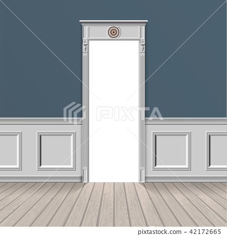 empty room through the open door 42172665