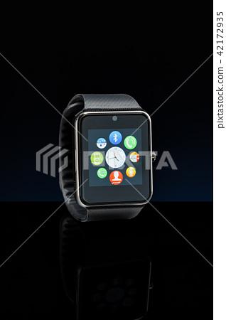 Modern black smartwatch. 42172935