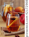 Apple cider with spices. 42172968