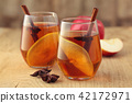 Apple cider with spices. 42172971