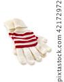 Winter gloves on white. 42172972