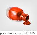 Nail polish bottle on white background vector illustration 42173453