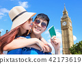 couple travel to london 42173619