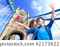 couple travel to london 42173622