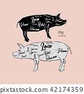 猪肉 矢量 矢量图 42174359