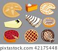 Homemade organic pie dessert vector illustration fresh golden rustic gourmet bakery. 42175448
