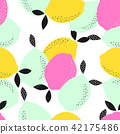 pattern, lemon, seamless 42175486