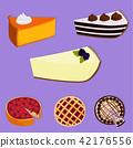 Homemade organic pie dessert vector illustration fresh golden rustic gourmet bakery. 42176556