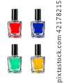 Nail polish bottles on white background vector illustration 42178215