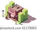 Vector isometric nail bar building 42178863