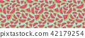 watermelon pattern vector 42179254