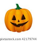 Halloween lantern on white background. Vector. 42179744