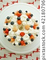strawberries, strawberry, cake 42180796
