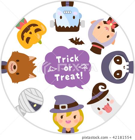 Trick หรือ Treat ใบหน้าชุดสัตว์ประหลาดน่ารักฮาโลวีน 42181554