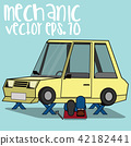mechanical repair under car flat vector  42182441