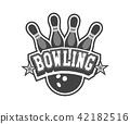 bowling vector emblem 42182516