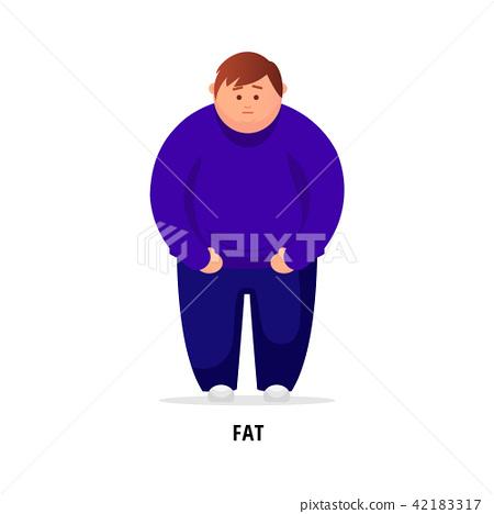 Fat man. Vector flat illustration 42183317