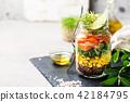 salad in a mason jar 42184795