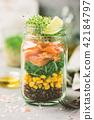 salad in a mason jar 42184797