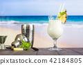 Cold pina colada cocktail 42184805