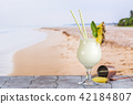 Cold pina colada cocktail 42184807