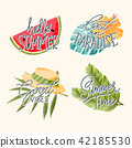 illustration, summer, lettering 42185530