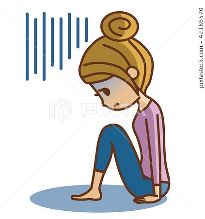 A woman falling 42186570