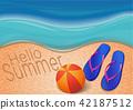 Summer background. Hello Summer 42187512