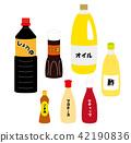 例证套调味料和油 42190836