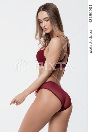 a14ae66ba9a Sexy woman in red lingerie - Stock Photo  42190901  - PIXTA
