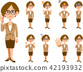 variation, businesswoman, vector 42193932